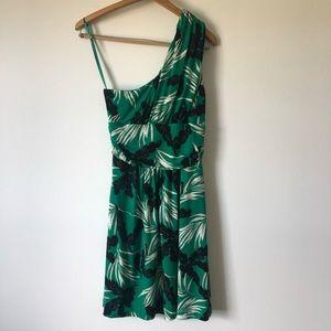 Vince camuto floral one shoulder dress geek sz Med